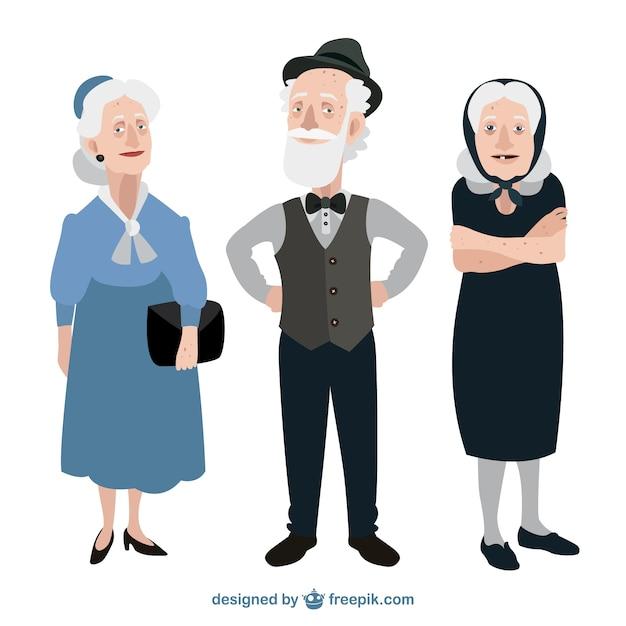 面白い祖父母 無料ベクター