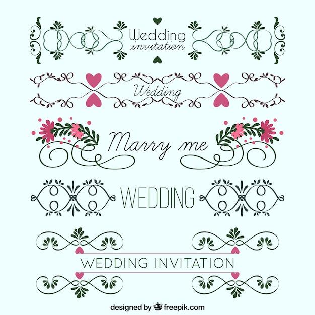 結婚式の花飾り Premiumベクター