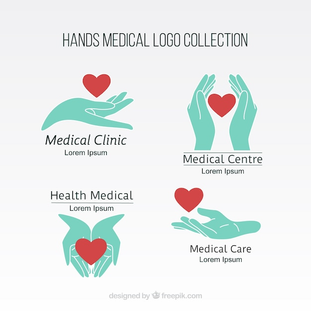 ハンズ医療ロゴコレクション 無料ベクター
