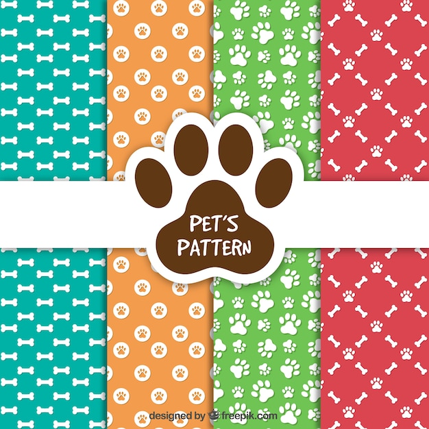 ペットのパターン集 無料ベクター