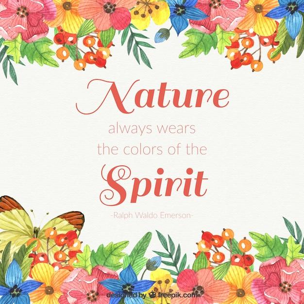 自然は常に精神の背景の色を身に着けています 無料ベクター