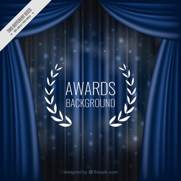 エレガントな青色のカーテンの背景 無料ベクター