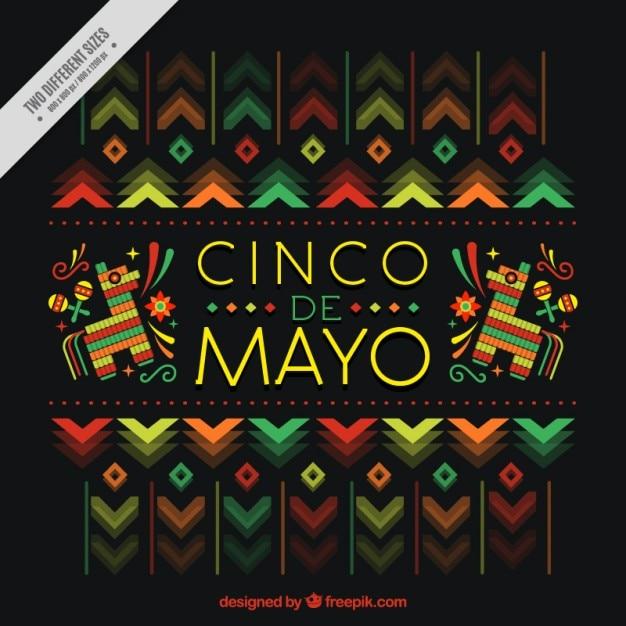 Красивые синко де майо фон Бесплатные векторы