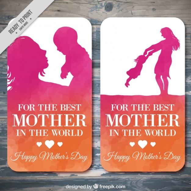 День прекрасный матери карты Бесплатные векторы