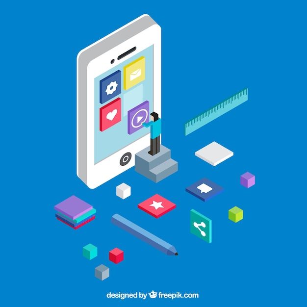 Мобильный пользовательский опыт Бесплатные векторы