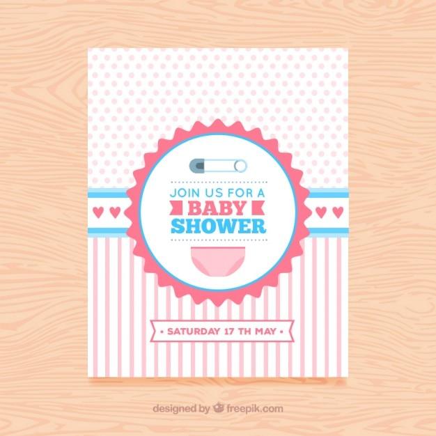 女の赤ちゃんの到着カード 無料ベクター