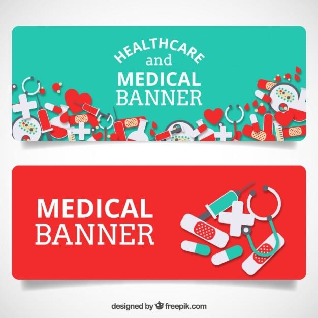 ヘルスケアや医療バナー 無料ベクター