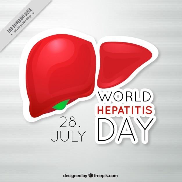 Гепатит день фон Бесплатные векторы
