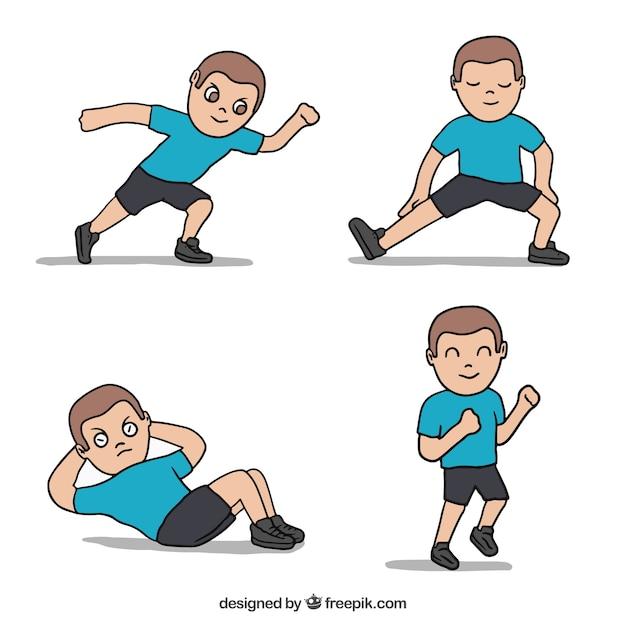 Физические упражнения рисунок