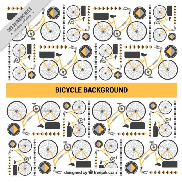 バイクと抽象的な形、背景 無料ベクター