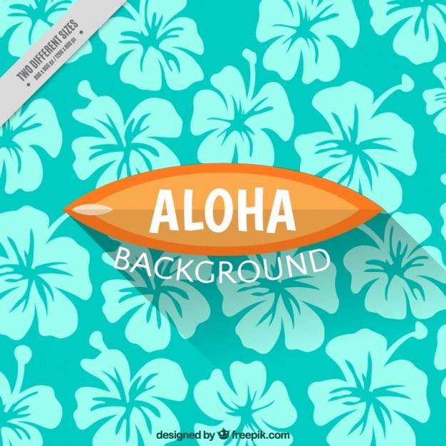 ハワイの花の背景 無料ベクター