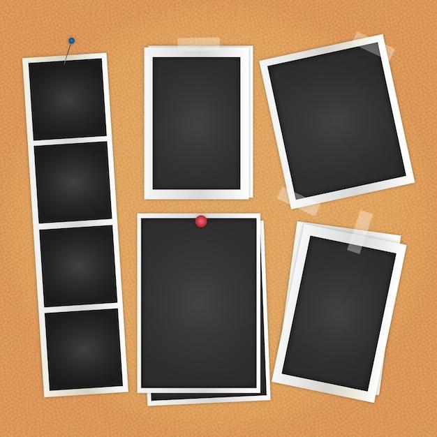 Разнообразие фотографии Бесплатные векторы