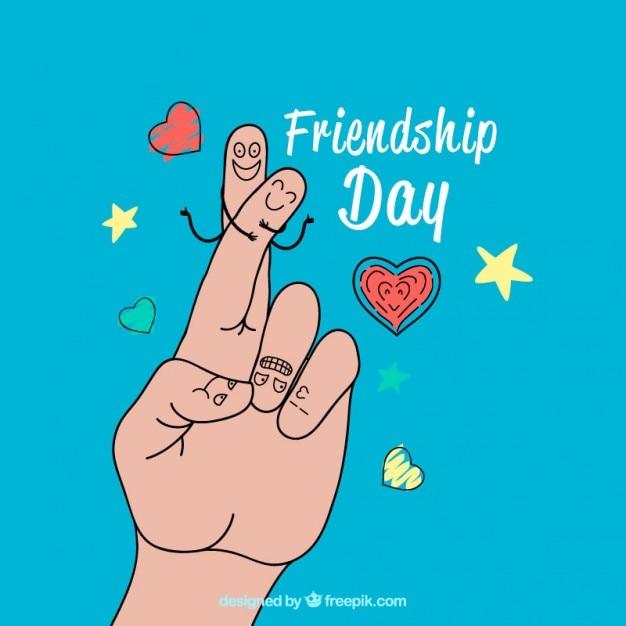 指、友情の日 無料ベクター