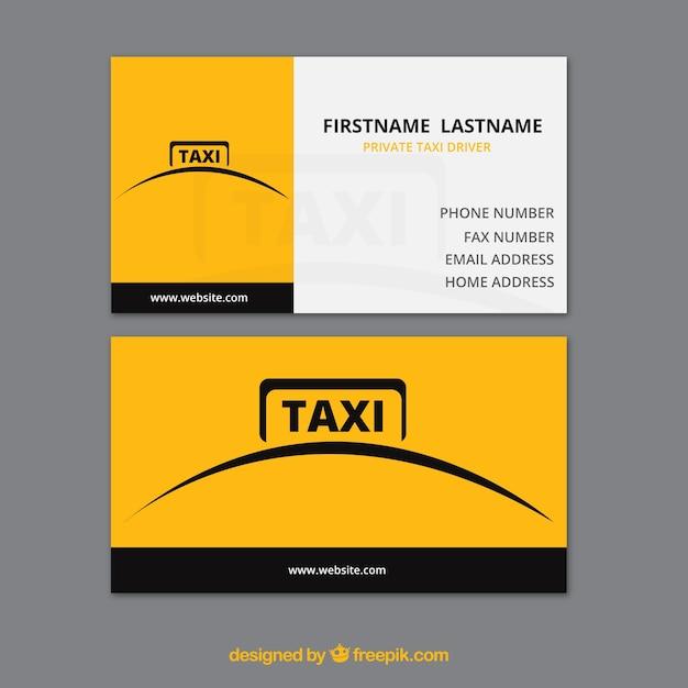 Простой желтое такси карта Бесплатные векторы