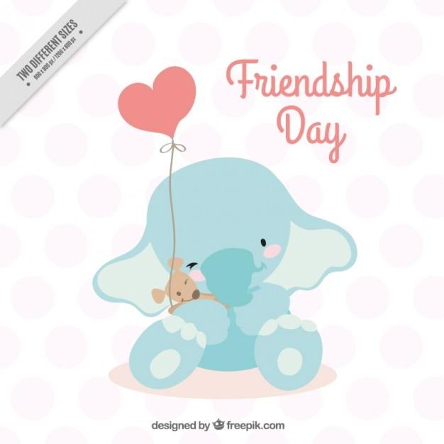 友情の日の象のデザイン 無料ベクター