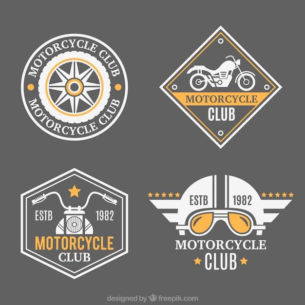 Красивые значки для мотоциклов Бесплатные векторы