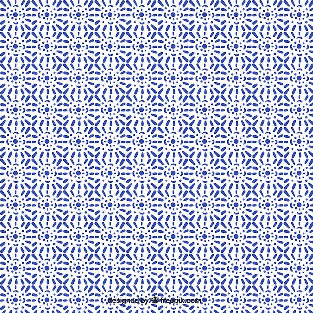 美しい装飾用タイルパターン 無料ベクター