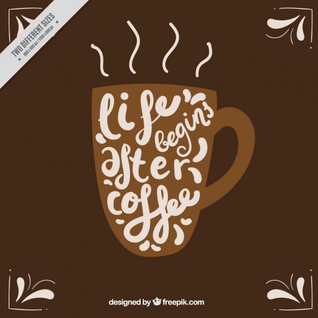 чашка кофе с вдохновляющие фразы фон вектор скачать