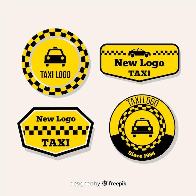 Фантастические логотипы для компаний такси Бесплатные векторы