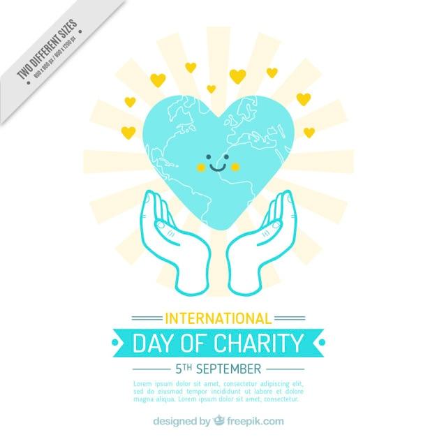 慈善団体の国際的な日に心を笑顔 無料ベクター