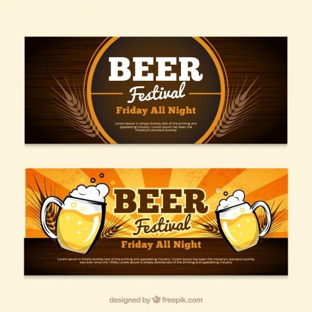 ビール祭のバナー 無料ベクター