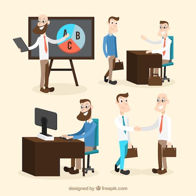 職場での異なる状況 無料ベクター