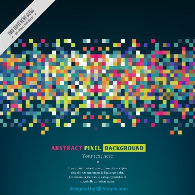 カラフルなピクセルの現代背景 無料ベクター