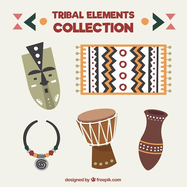 部族の要素のコレクション 無料ベクター
