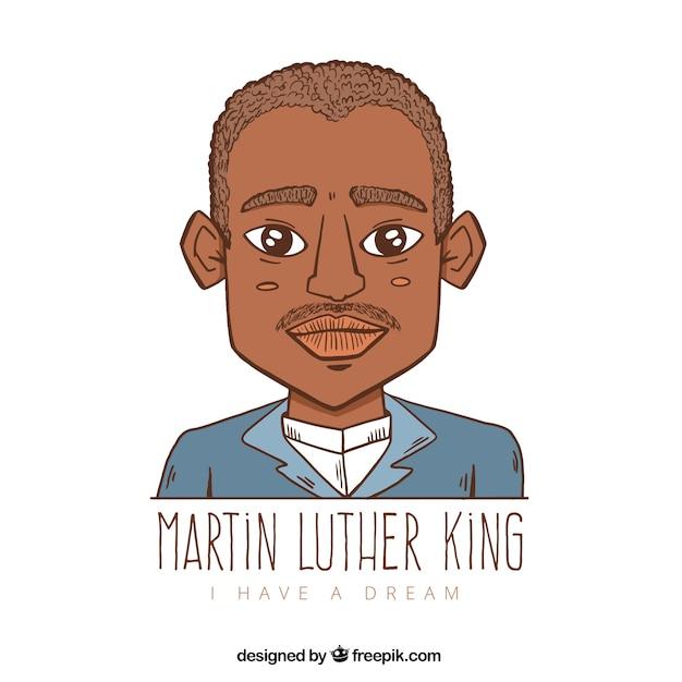 マーティン・ルーサー・キングの日の手描きの背景 無料ベクター