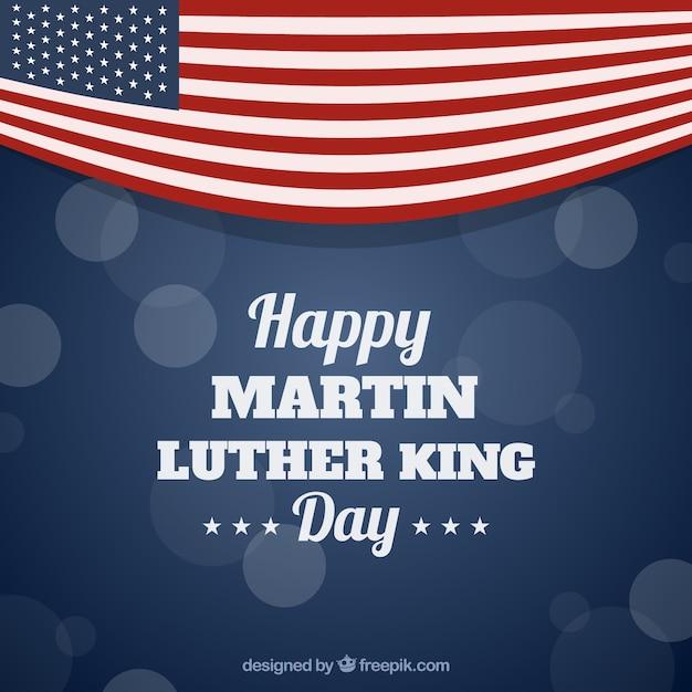 マーティン・ルーサー・キングの日のボケの背景 無料ベクター