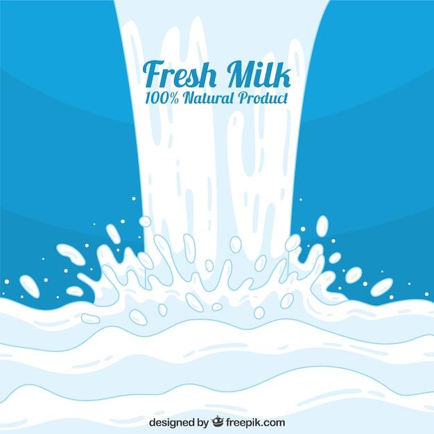 牛乳と青の背景 無料ベクター