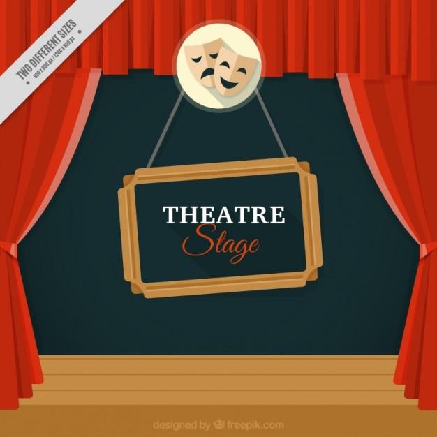 劇場の舞台の背景 無料ベクター