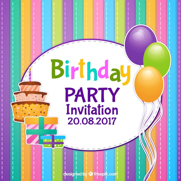 Открытка приглашения на день рождения мальчика