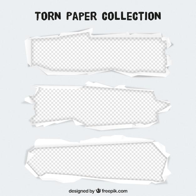 引き裂かれた紙のテンプレート 無料ベクター