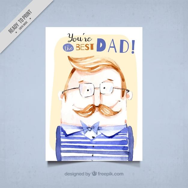 Открытки акварелью с днем рождения папе, сделать открытку бумаги