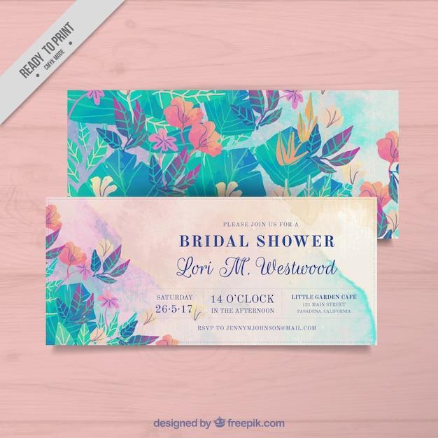 花の独身カード 無料ベクター