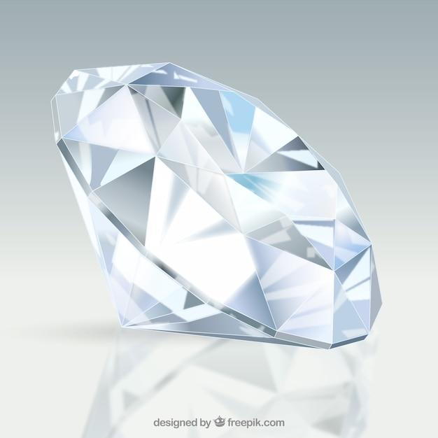 Удивительный алмаз в реалистичном дизайне Бесплатные векторы