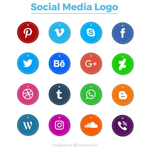 社会的なロゴのパック 無料ベクター