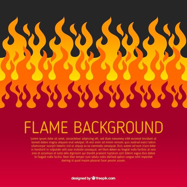 フラットデザインの炎の背景 無料ベクター