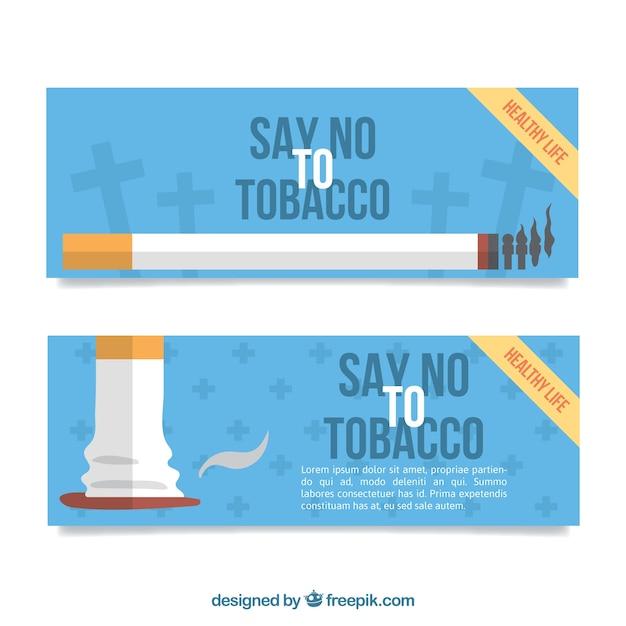 Ничего не говорите табачные баннеры Бесплатные векторы