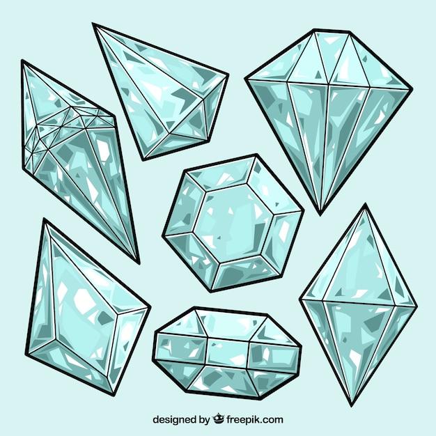 картинки кристаллов поэтапно образом, визирном