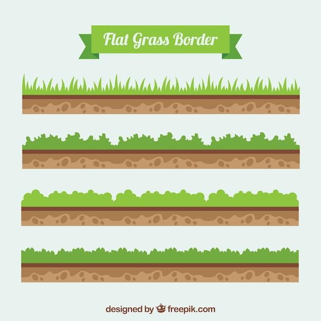 地面や草のバーダーパック 無料ベクター