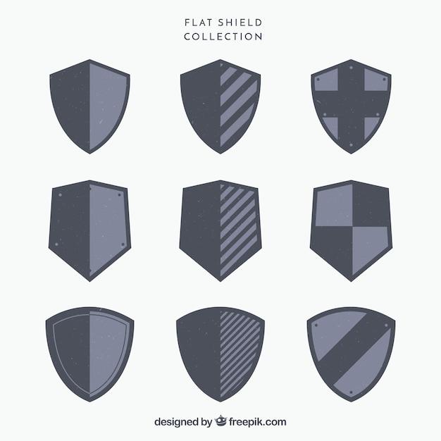 紋章盾のコレクション 無料ベクター