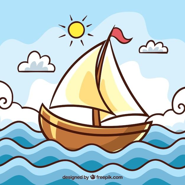 картинки маленького кораблика отличии спиц