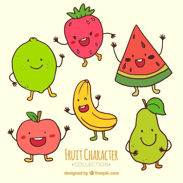 Прикольные фрукты рисунки