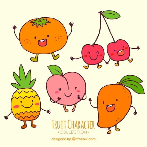Картинки нарисованных няшных фруктов