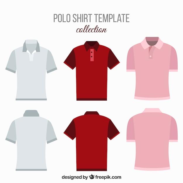 男性用の様々なポロシャツ 無料ベクター