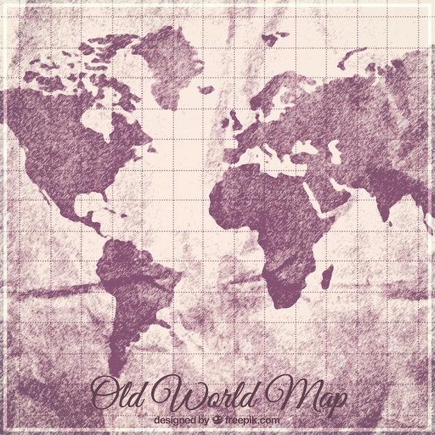 旧世界地図の背景 無料ベクター
