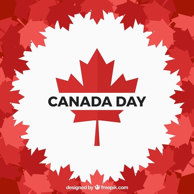 フラットデザインのカナダの日の背景 無料ベクター