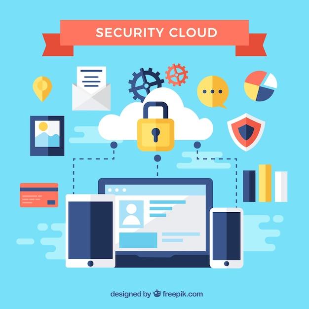 インターネットセキュリティ要素の背景 無料ベクター